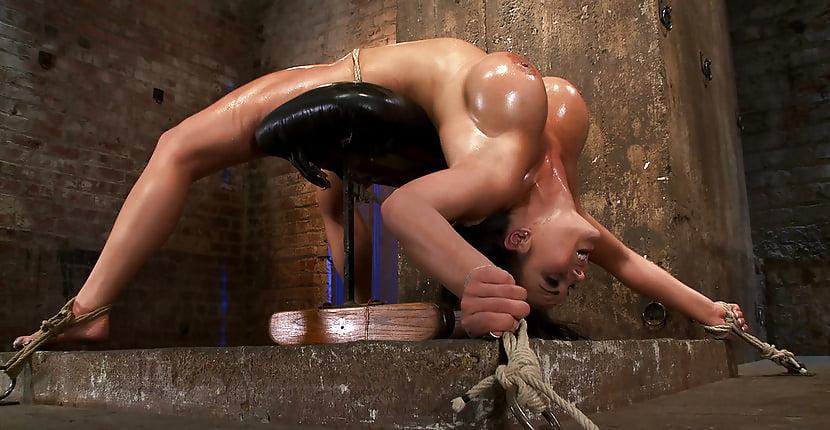 Hot oiled woman bondage 10