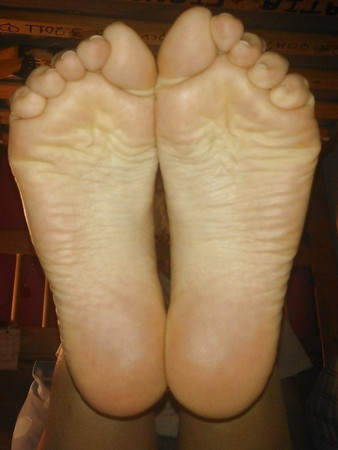 Extra smooth soles ready for footjob