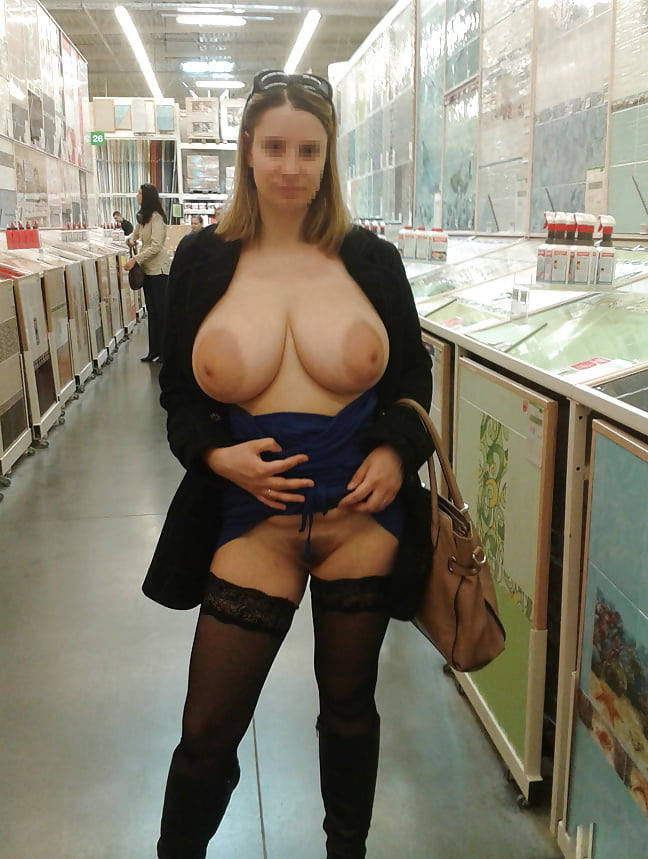 Women with big boobs having sex in public — photo 8