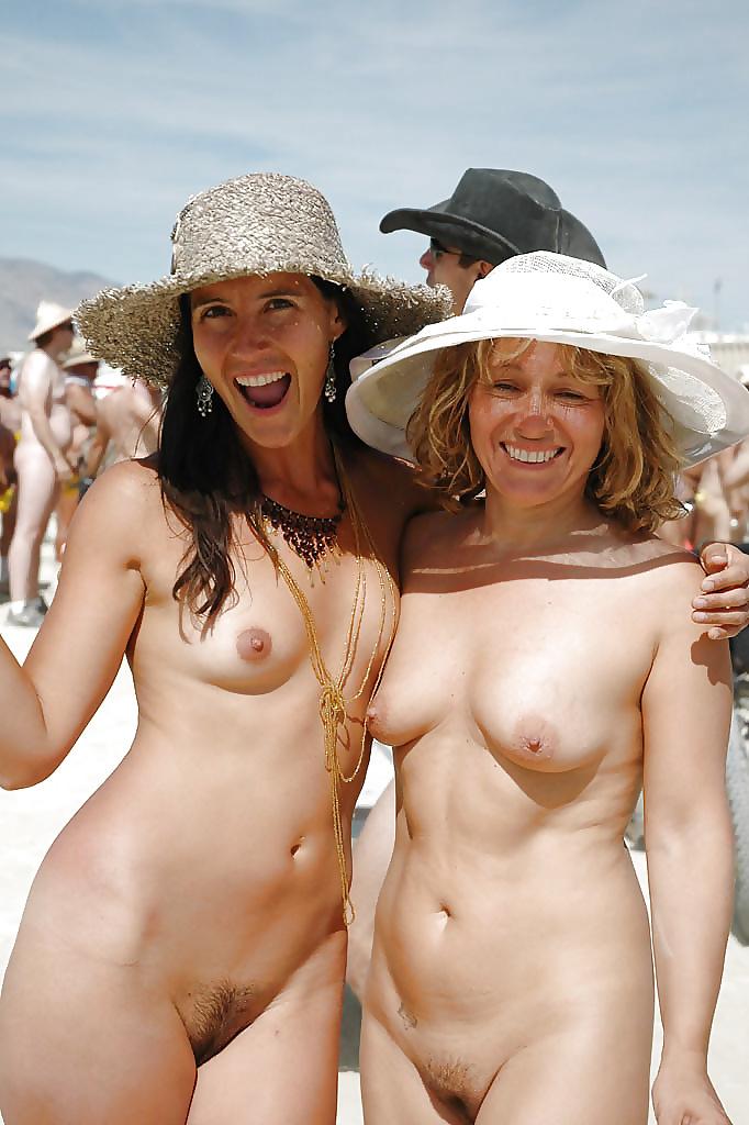 Naked women with bucket teeth