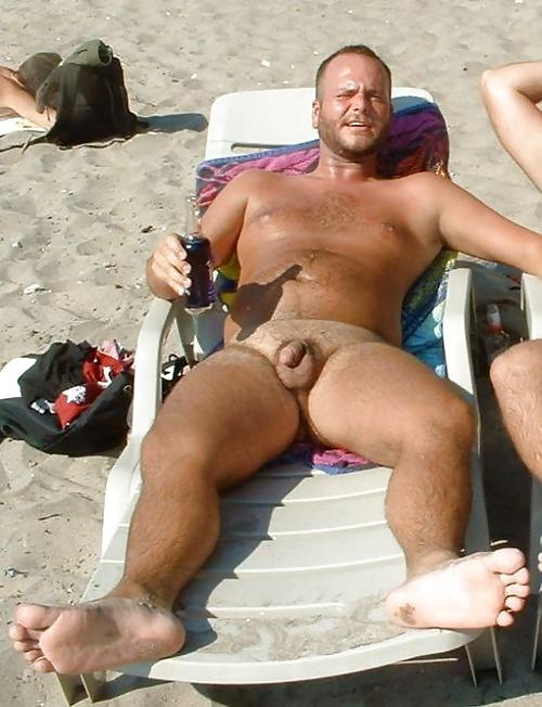 Hairy men at nude beach