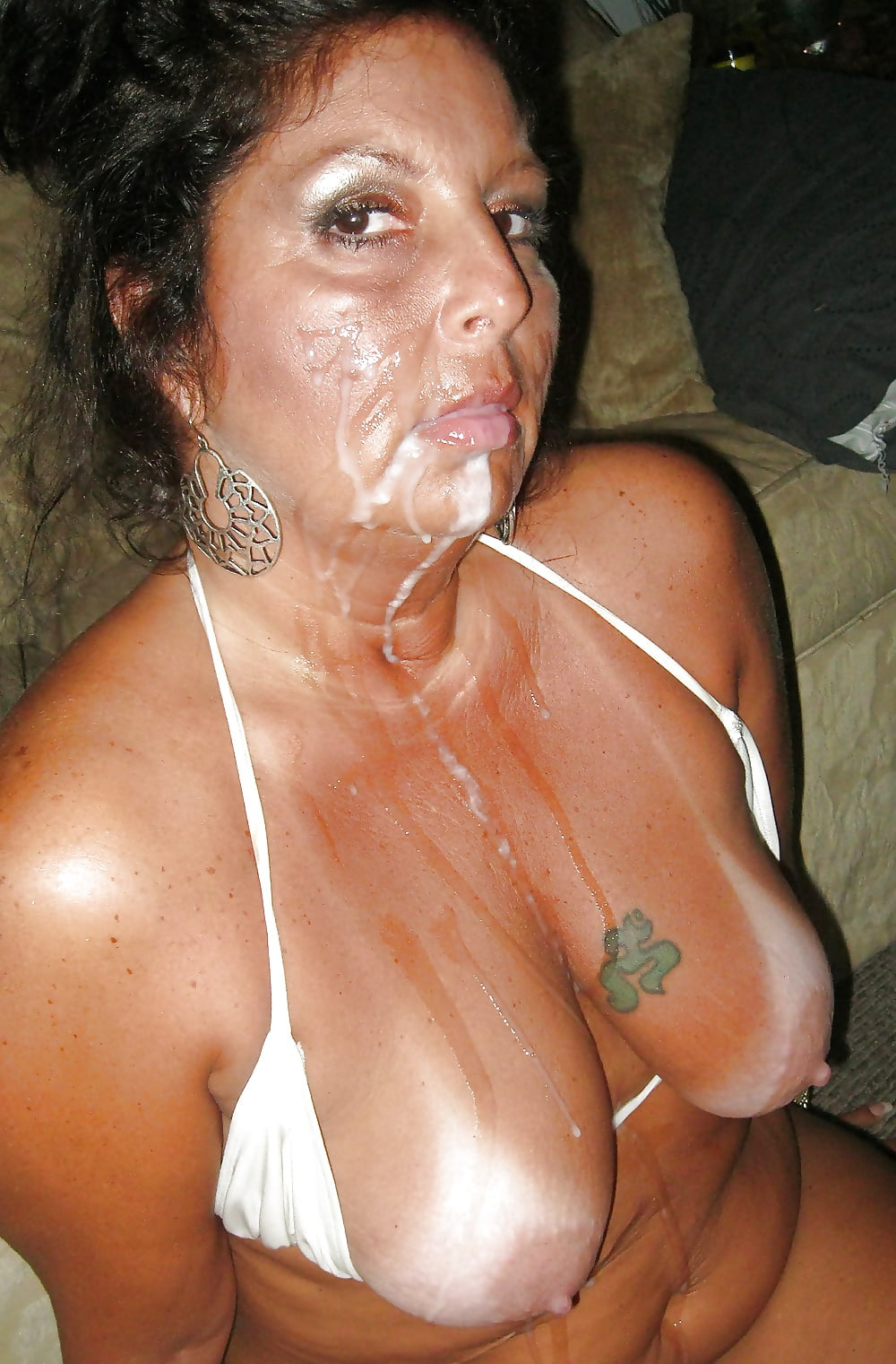 Mature women cum on mouth