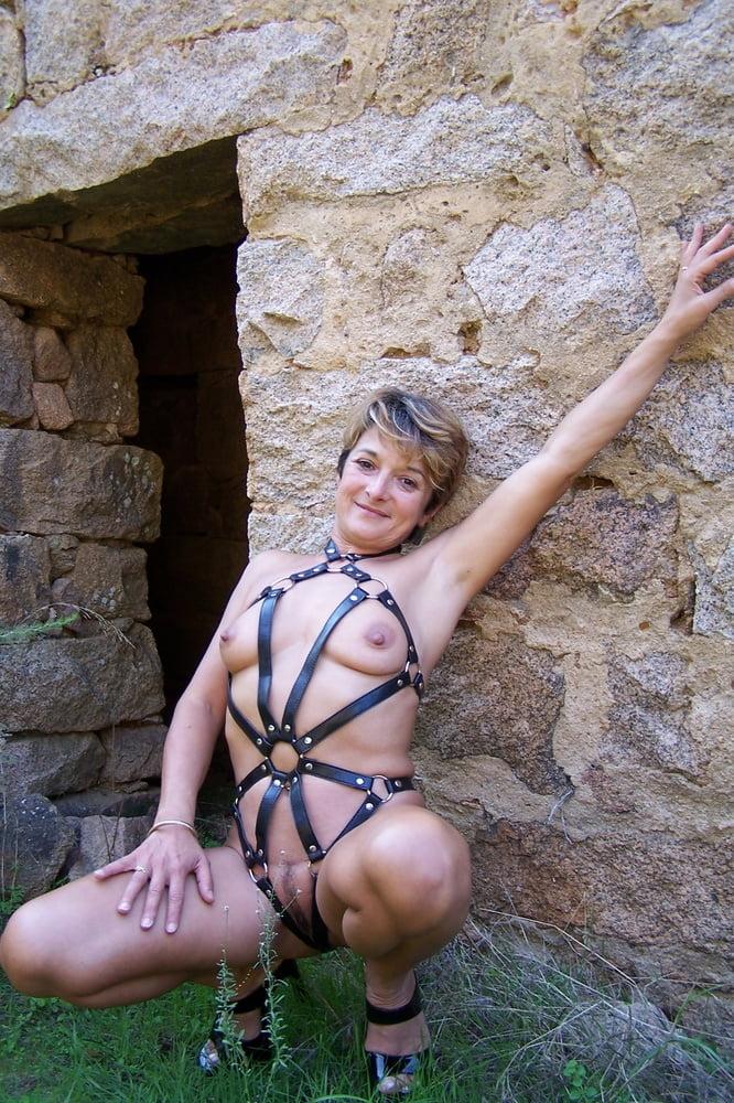 Sheer lingerie milf