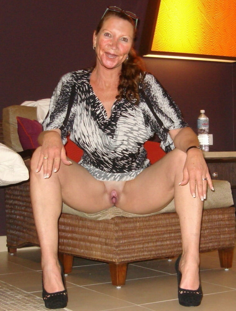 Mature wife takes off her panties after a glass of wine