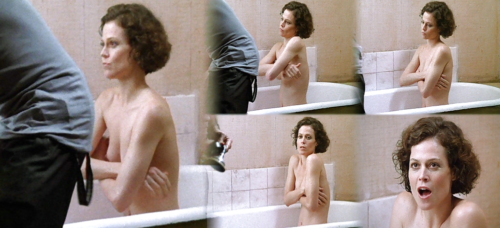 Sigourney weaver breasts scene in alien