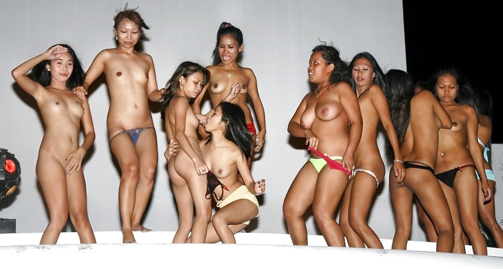 Naked pinay trio on the beach
