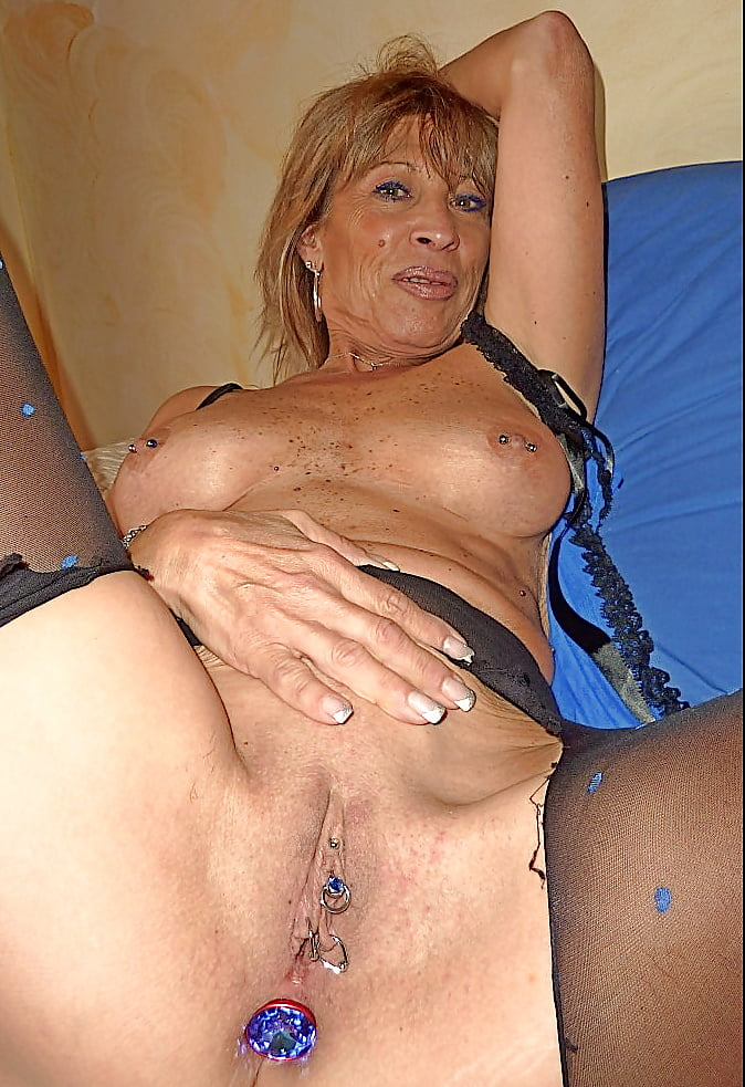 Hungry British Pierced Milf Whore With Spunky Knickers Blonde Pics 1