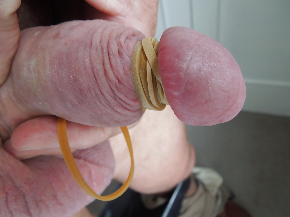 Rubberband around penis