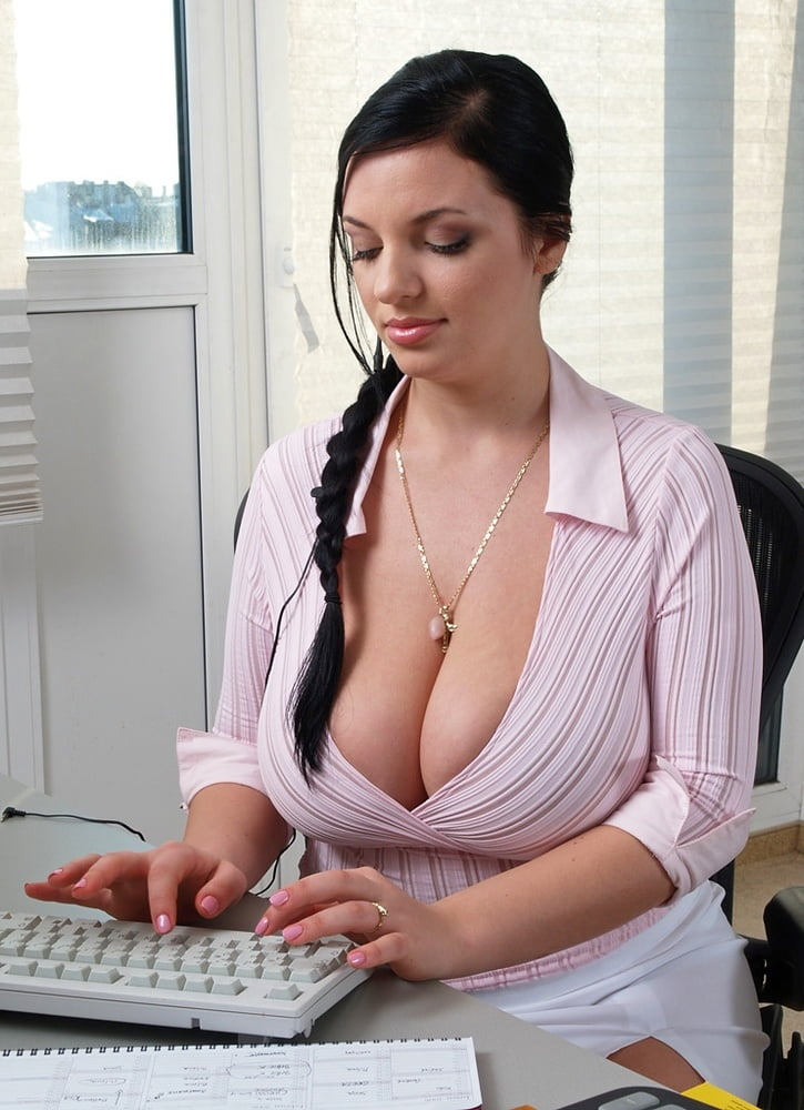 Busty office women