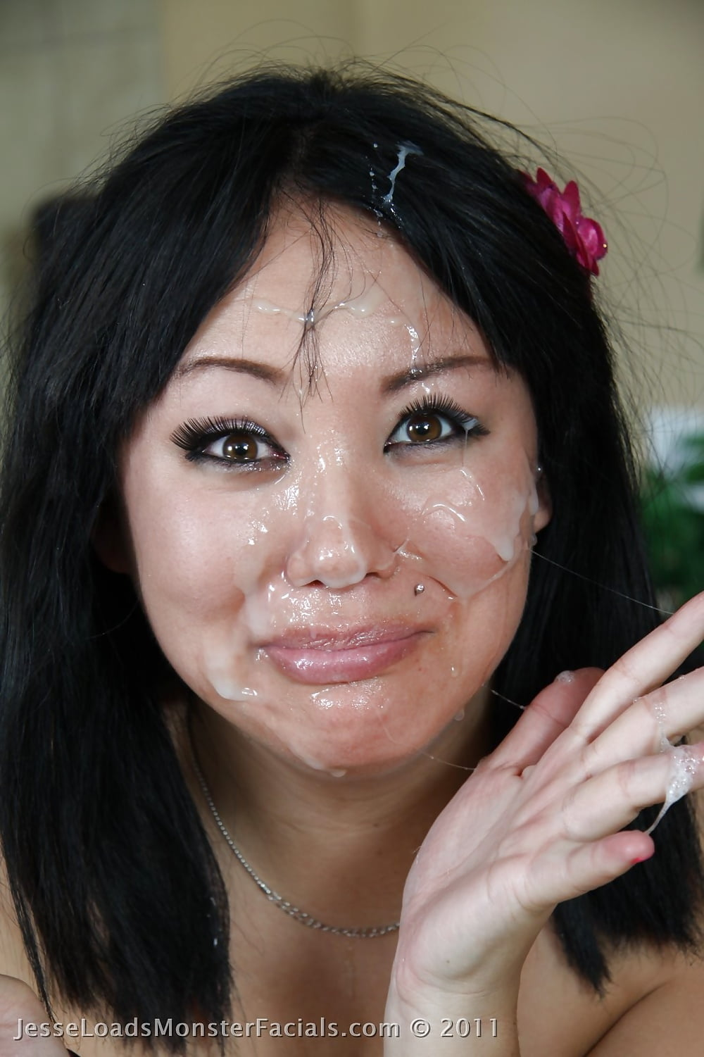 Asian cum on face — photo 14