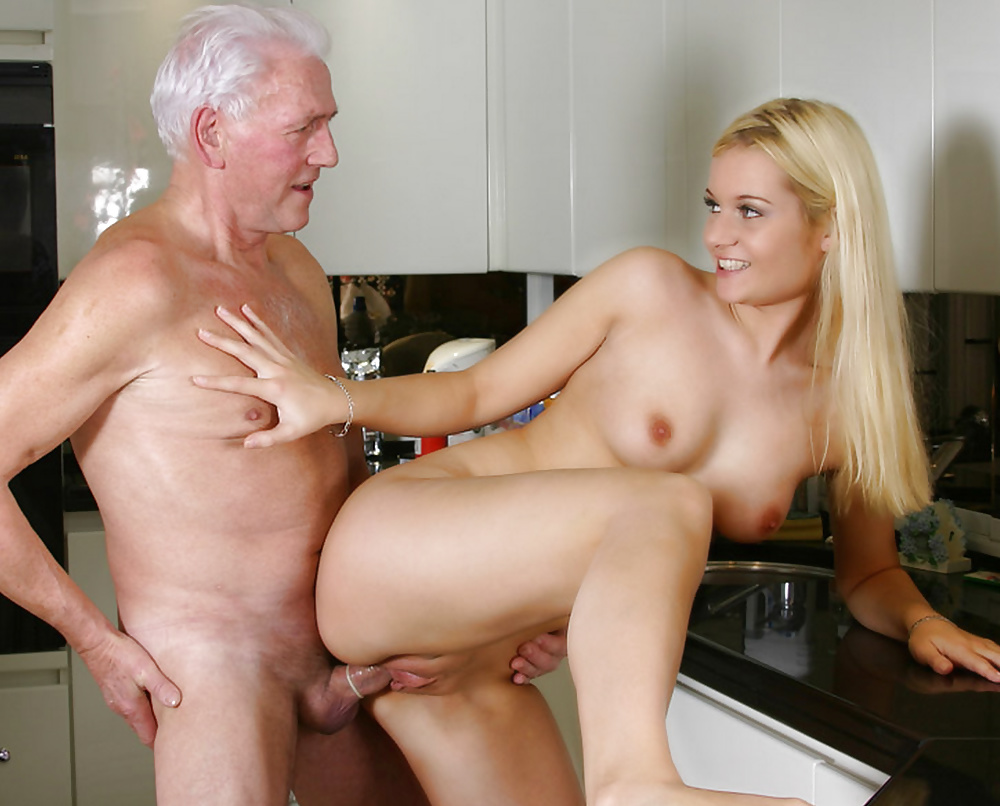 Mature Man Eating Young Pussy