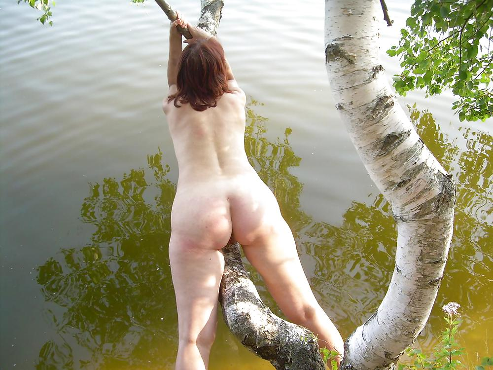 Amateur naked outdoor