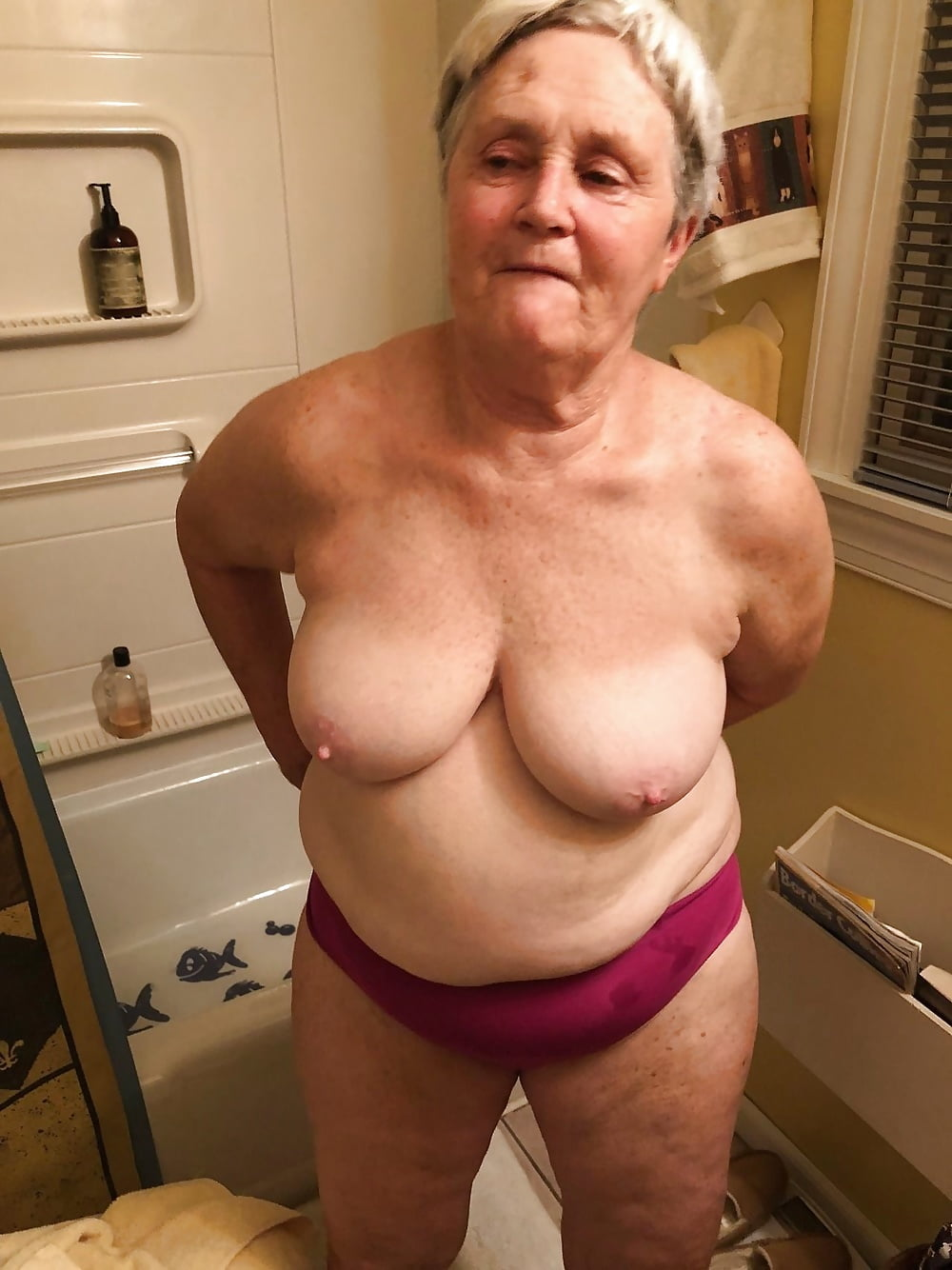 Irish grannies naked pictures, movies black suspenders