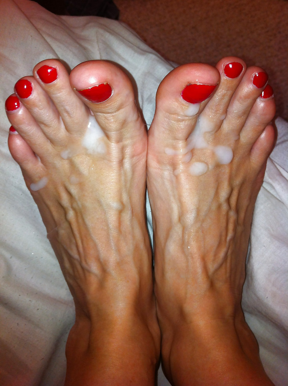 My Hot Cum Over Her Sexy Feet - 4 Pics  Xhamster-8998