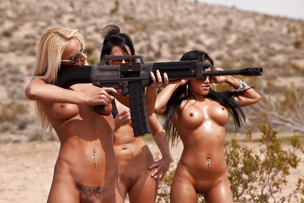Nude Nude Babe Gun Pics