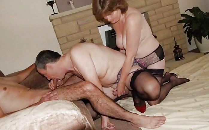 Granny bisexual orgy