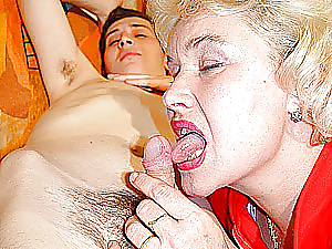 Granny seduces boy