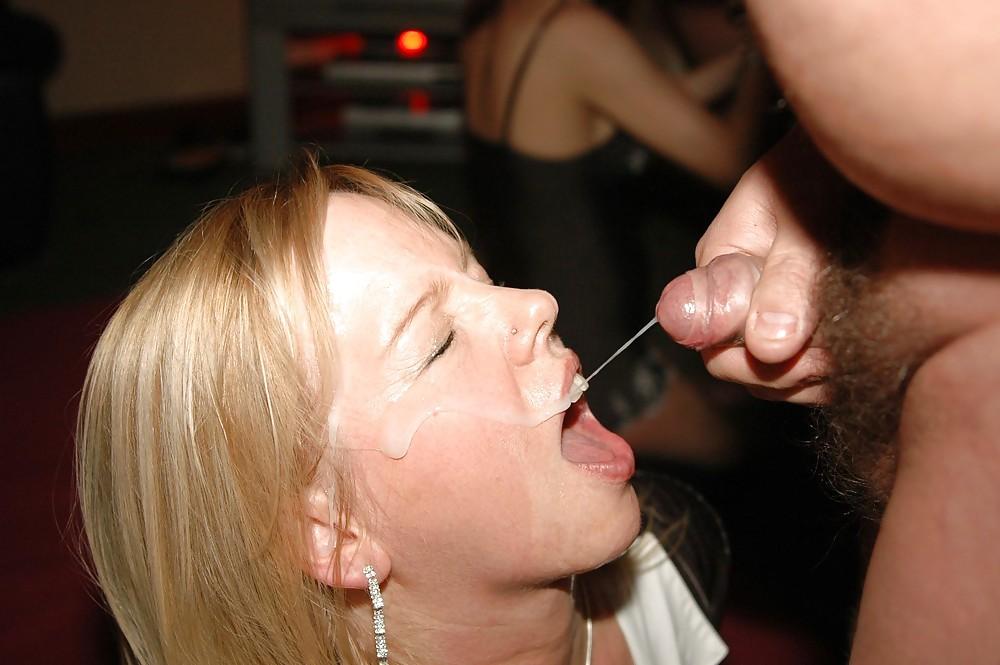 Horny Babes Swallow Cum