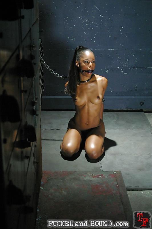 tgp african ebony Bound bondage