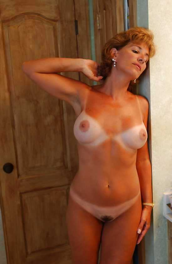 Good amateur mature nude tan lines