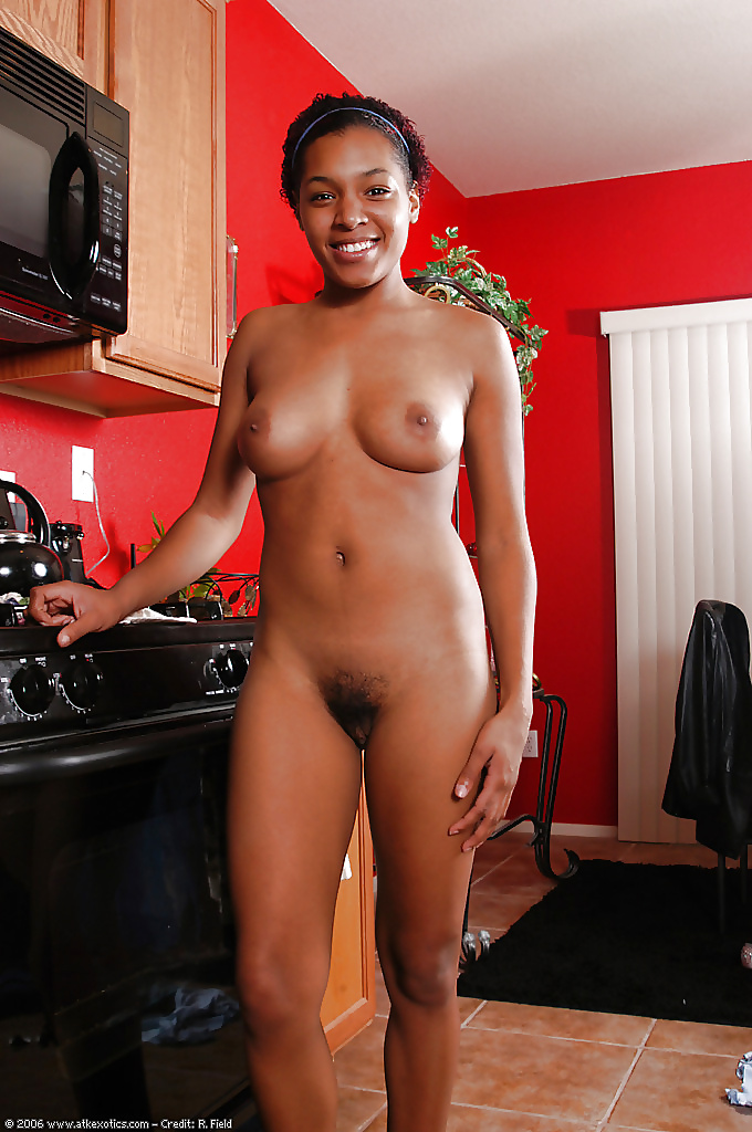 Light black girl nude