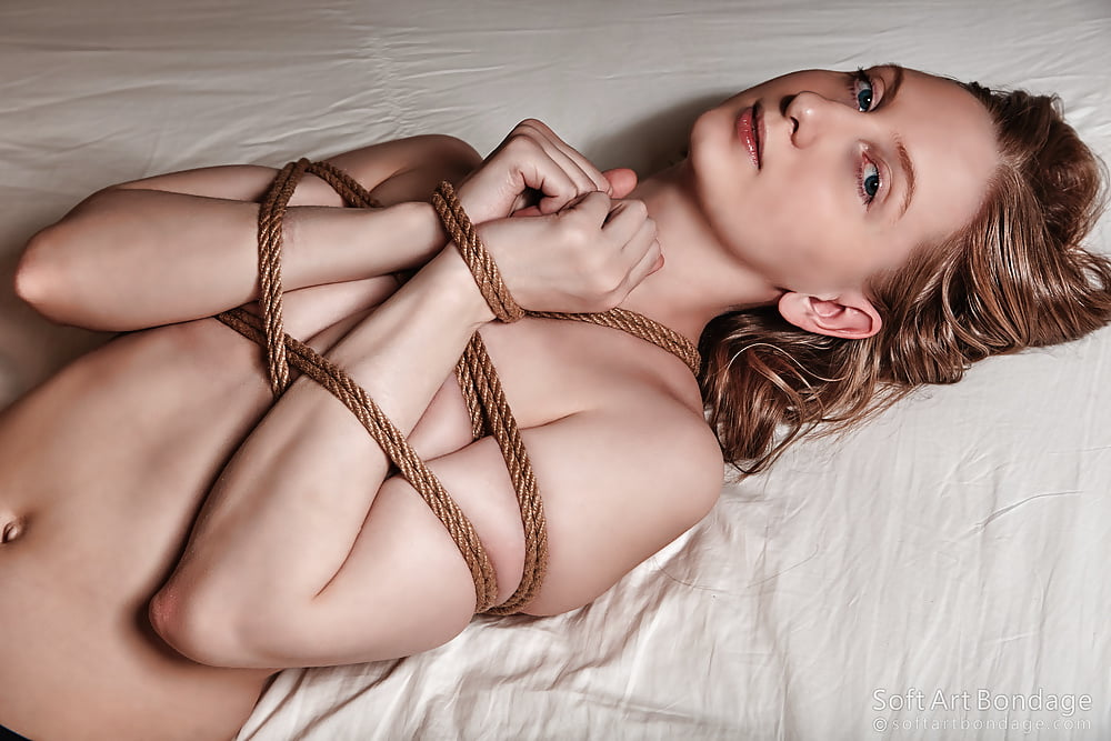 Soft bondage rope harness