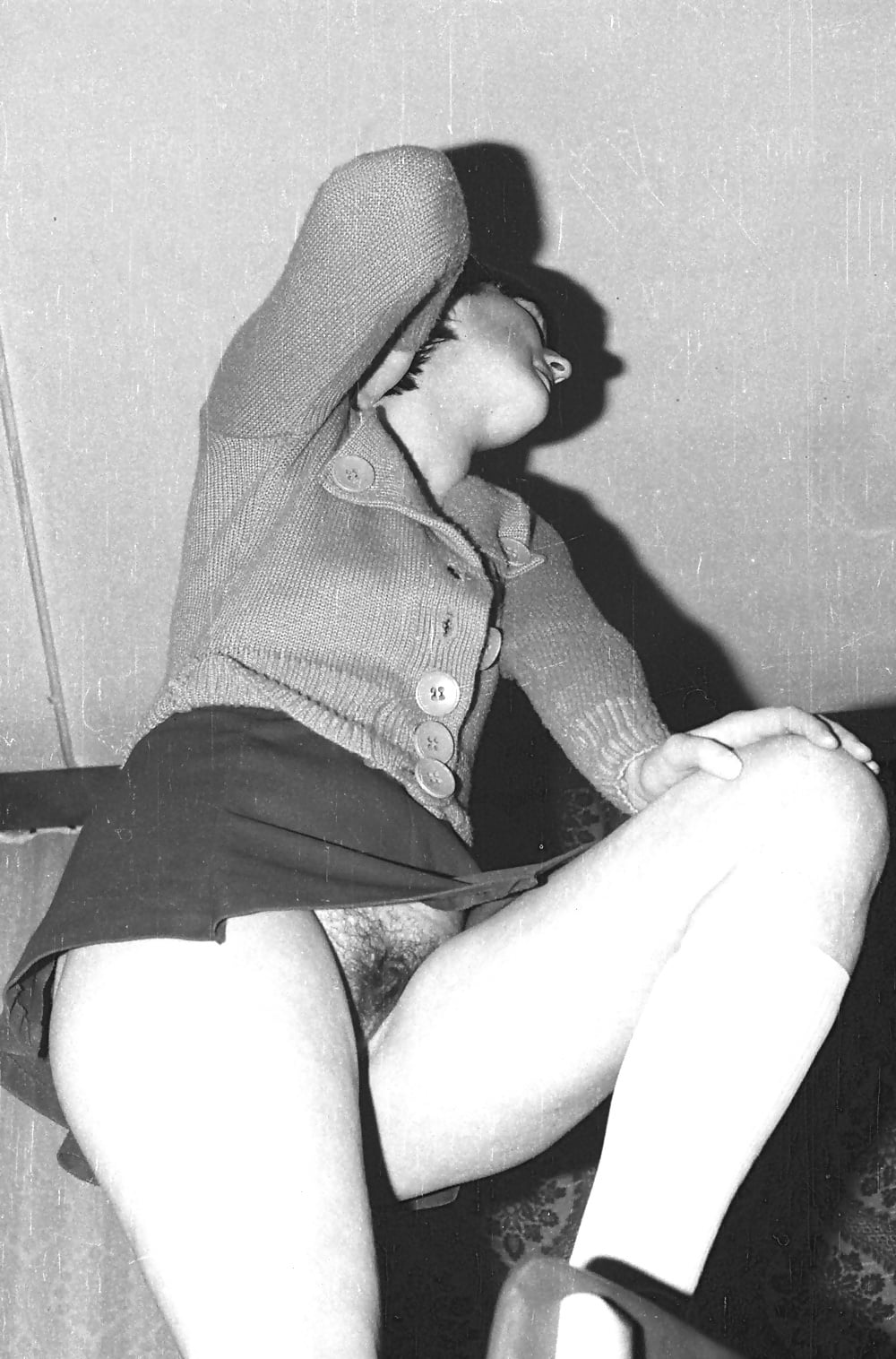 Vintage Stockings, Panties And Pussy