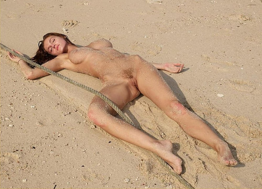 Sexy nude women on the beach