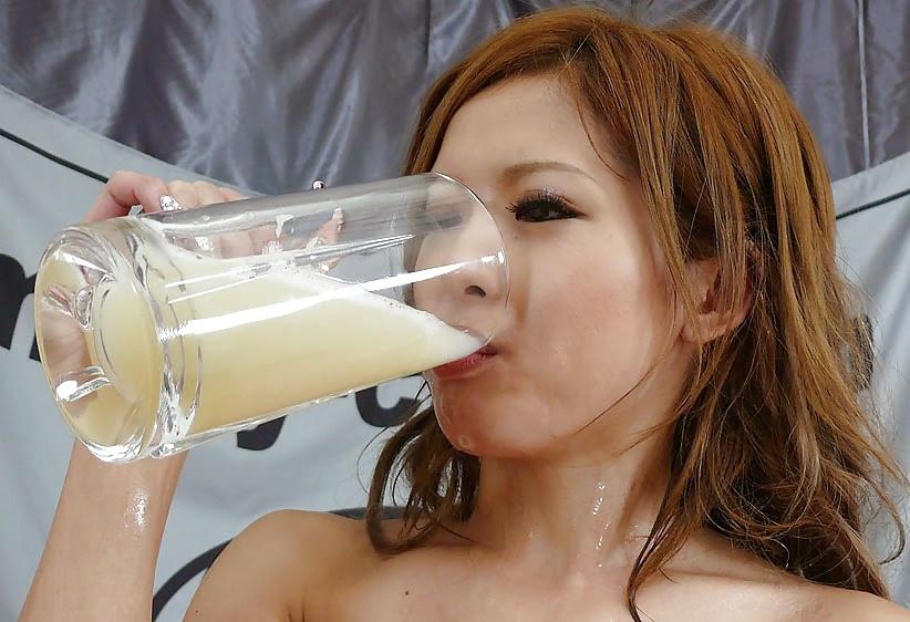 Bukkake Cum Drinking Facial