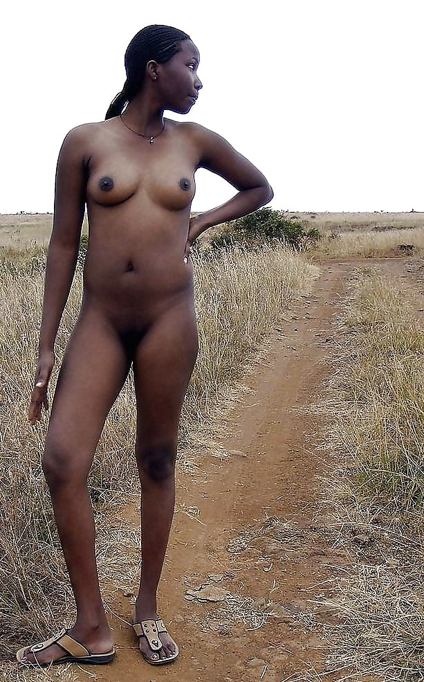 Back of a naked african boy, photo