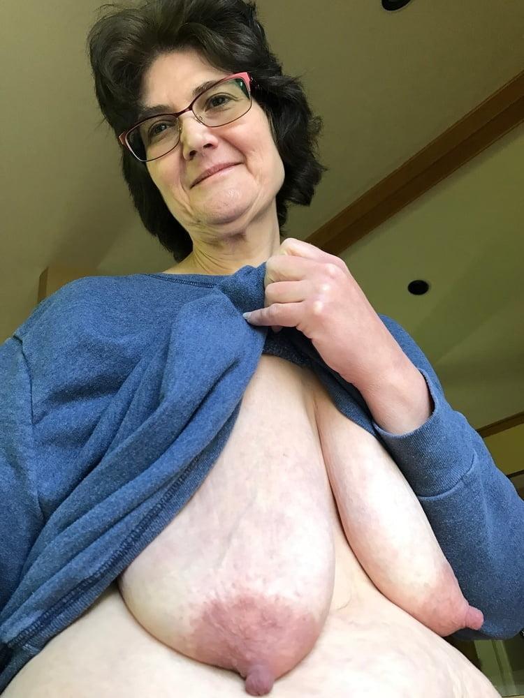 Cum on saggy tits granny