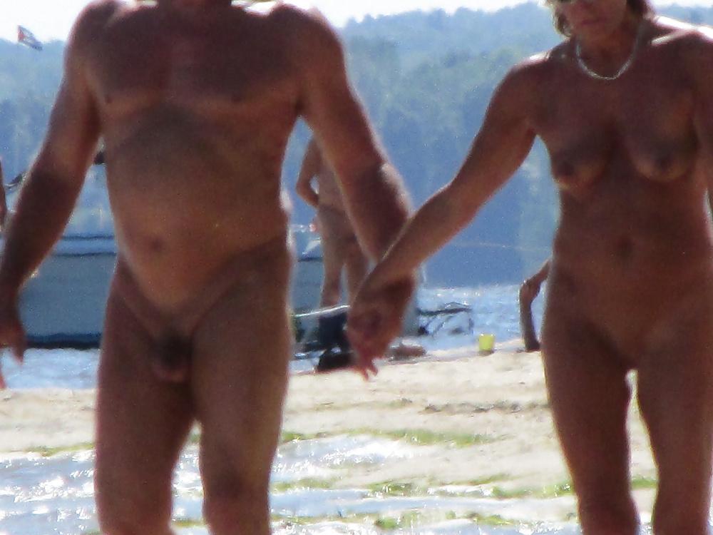 Nude daddy beach