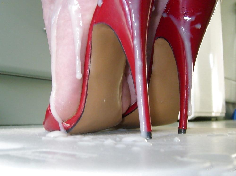 Nude women sucking on high heel shoes #3