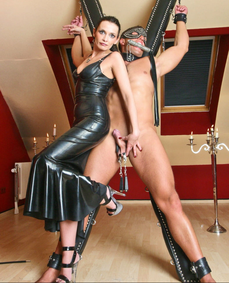 Dominatrix Uses Dog Boy For Her Own Sexual Gratification