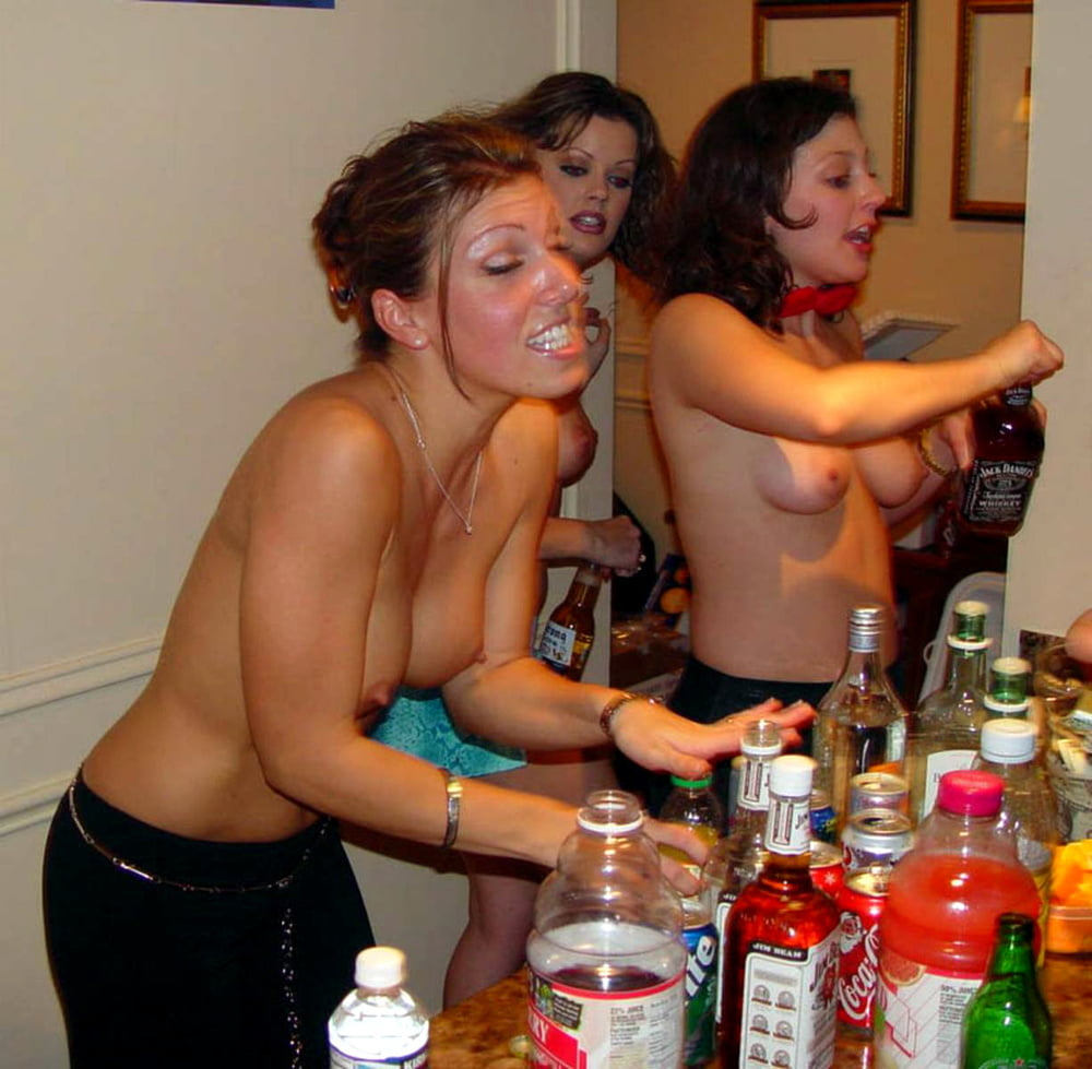 Naked Chicks In Binge Drinking Party