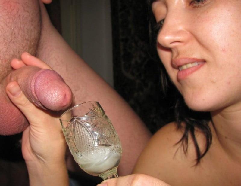 Girls drinking sperm cocktails