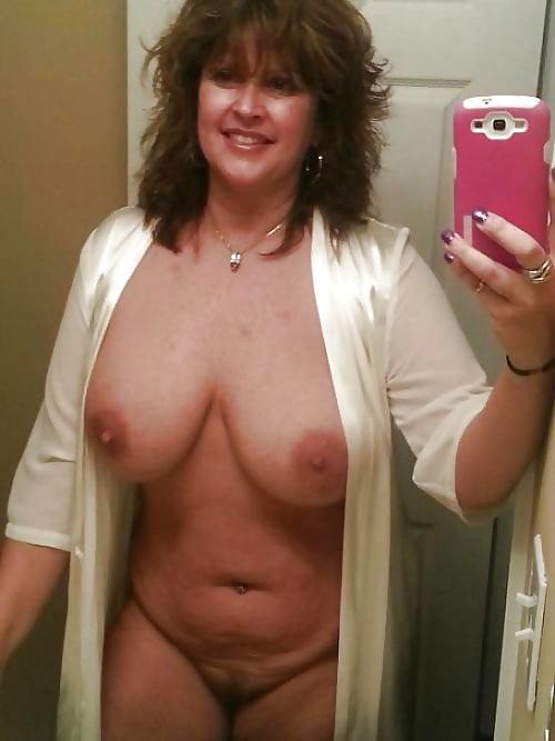 Big tits mature selfie