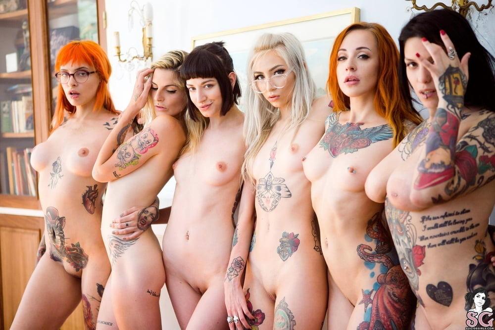 Tattooed girl nude