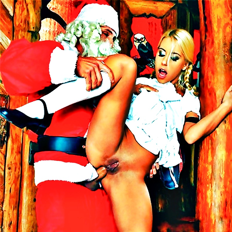 Horny girls fucking santa claus, licked her butt dominant wife