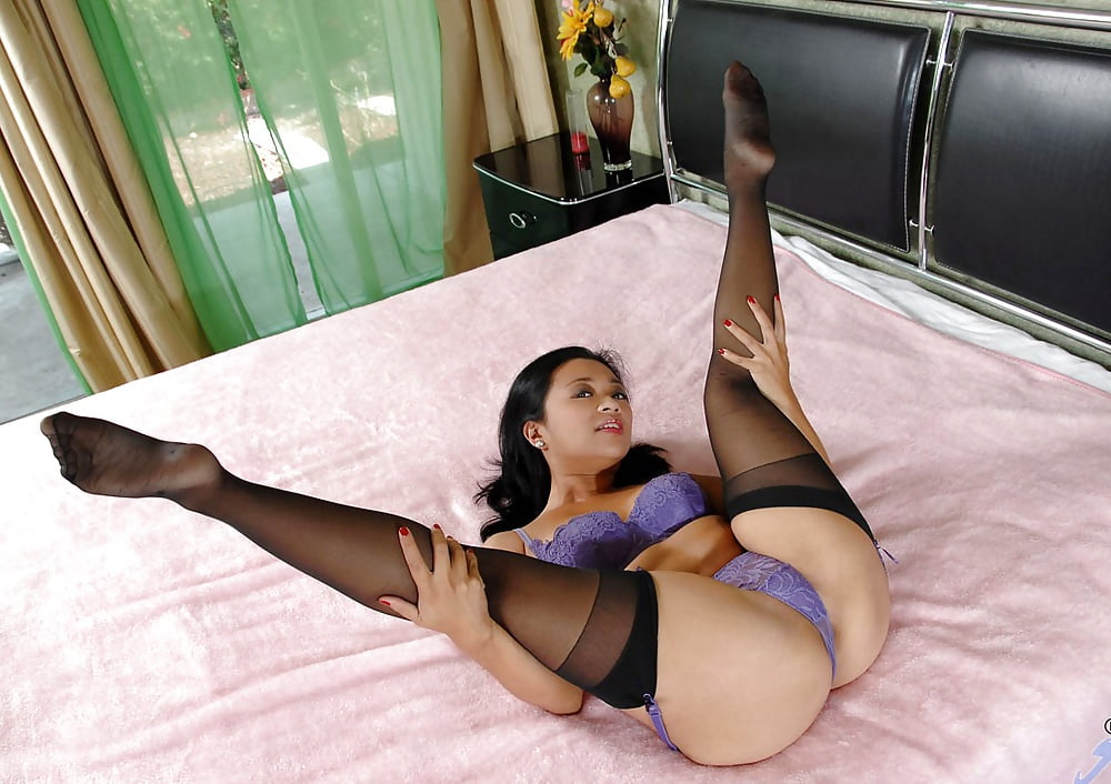 Skinny Asian Mom In Sexy White Stockings Showing Off Her Tig Thumzilla 1