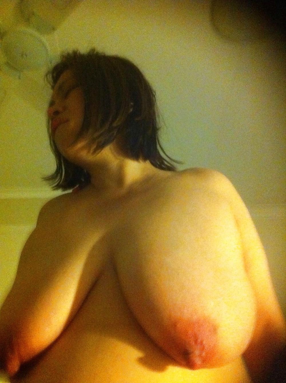 Funbags huge saggy sexy boobs large nipples