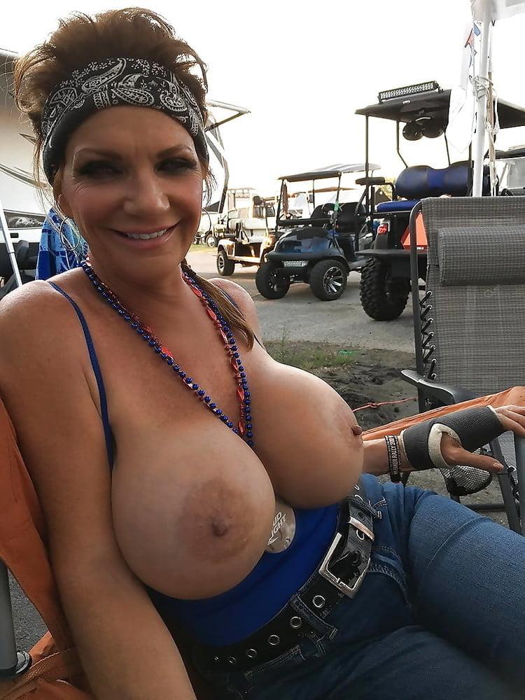 Wet boobs public