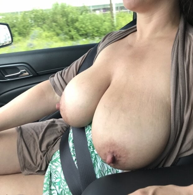 In the car, selfies, flashing and public sex! - 146 Pics