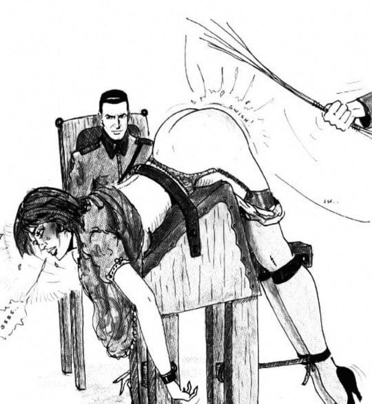 Punishment spanking art drawings
