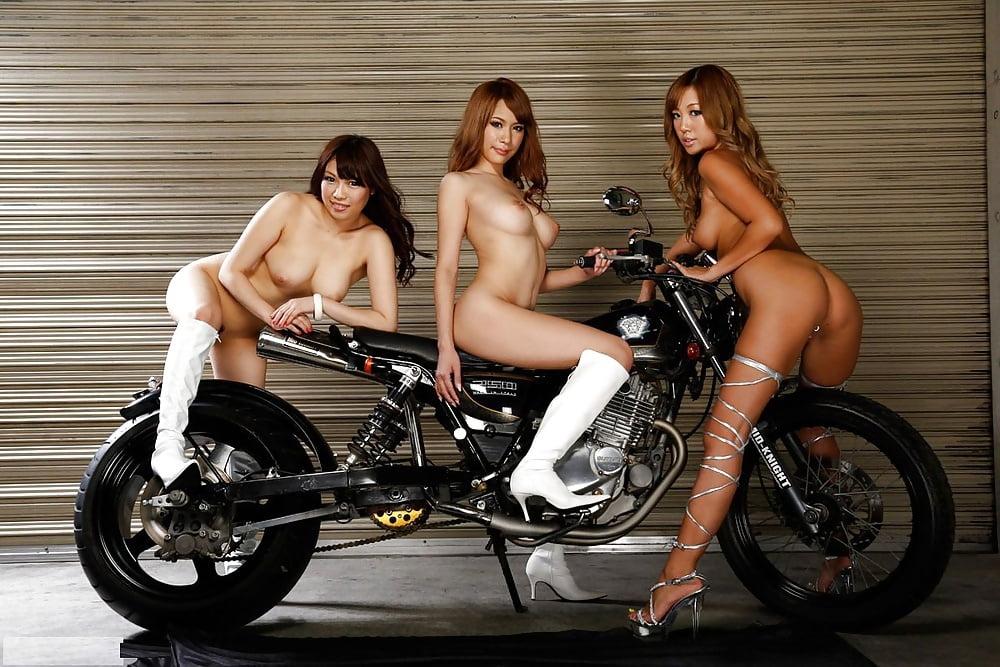 Nude girls on motocross bikes