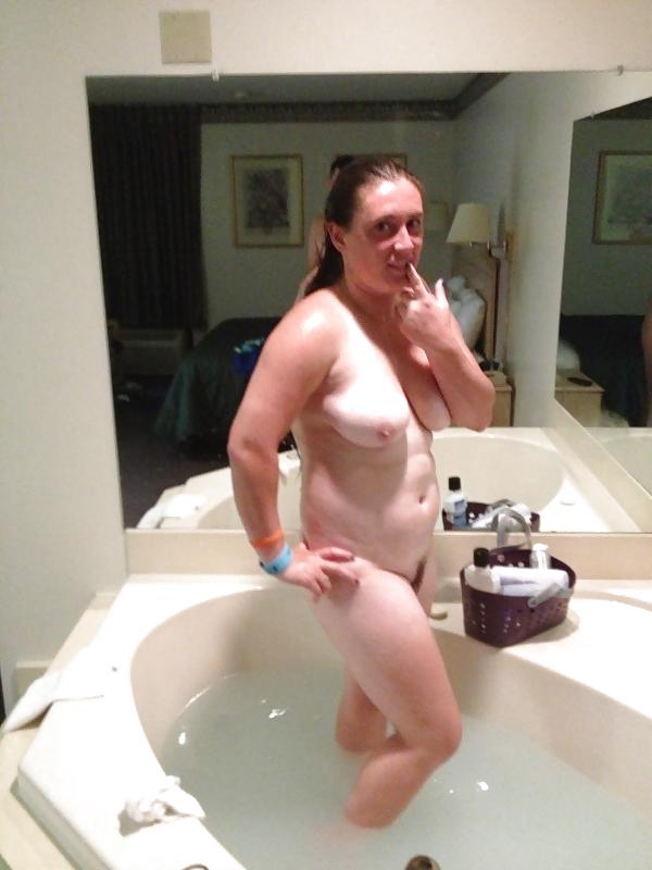 Girlfriend in hot tub