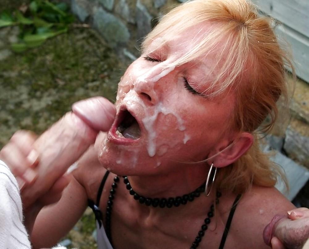 Milf facial outdoors 5