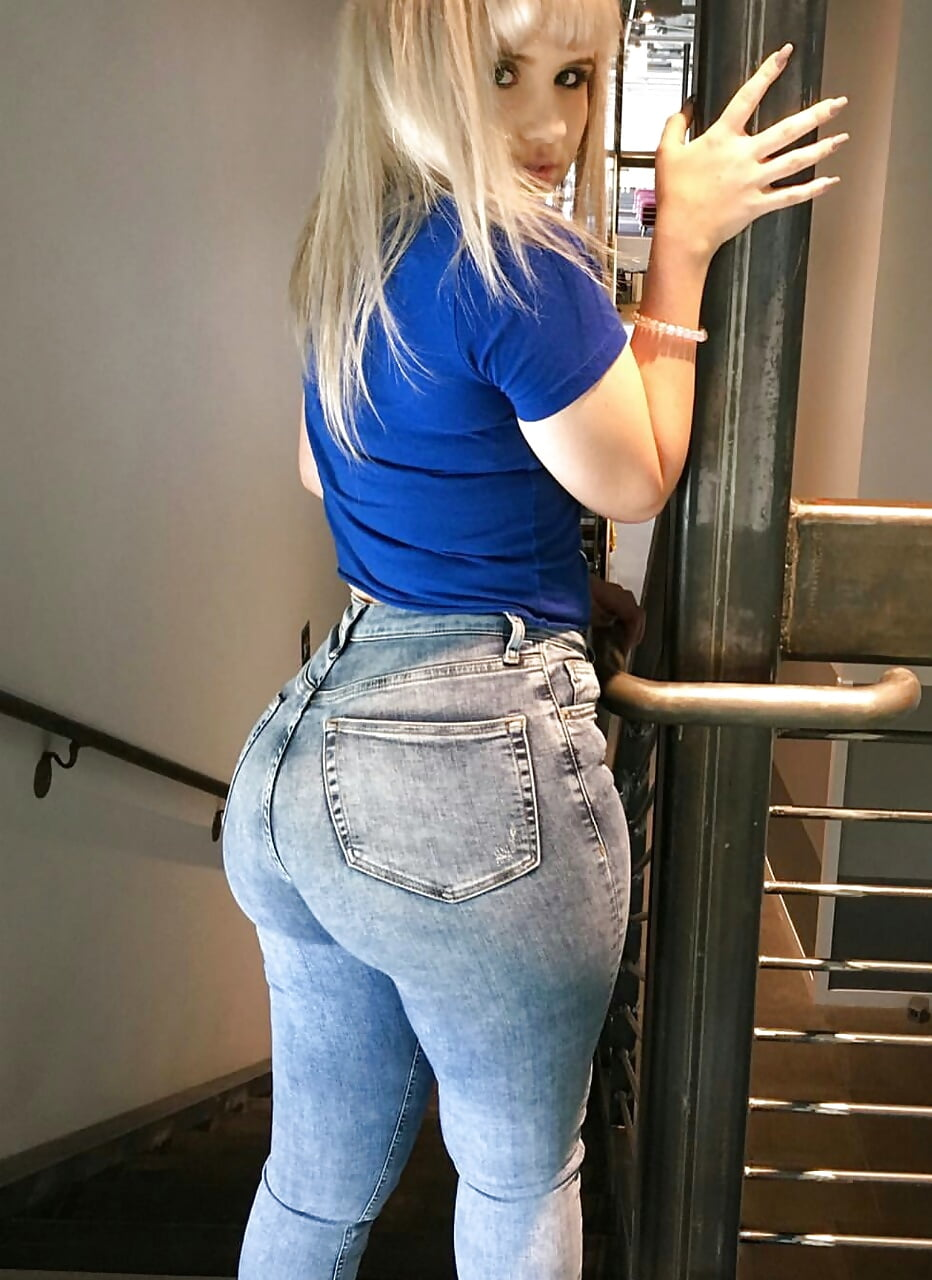 Big booty girl in jeans gets poked with dick #11