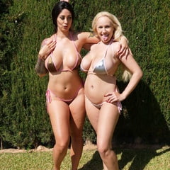 2 Big Boobs, Round Ass Bikini Models