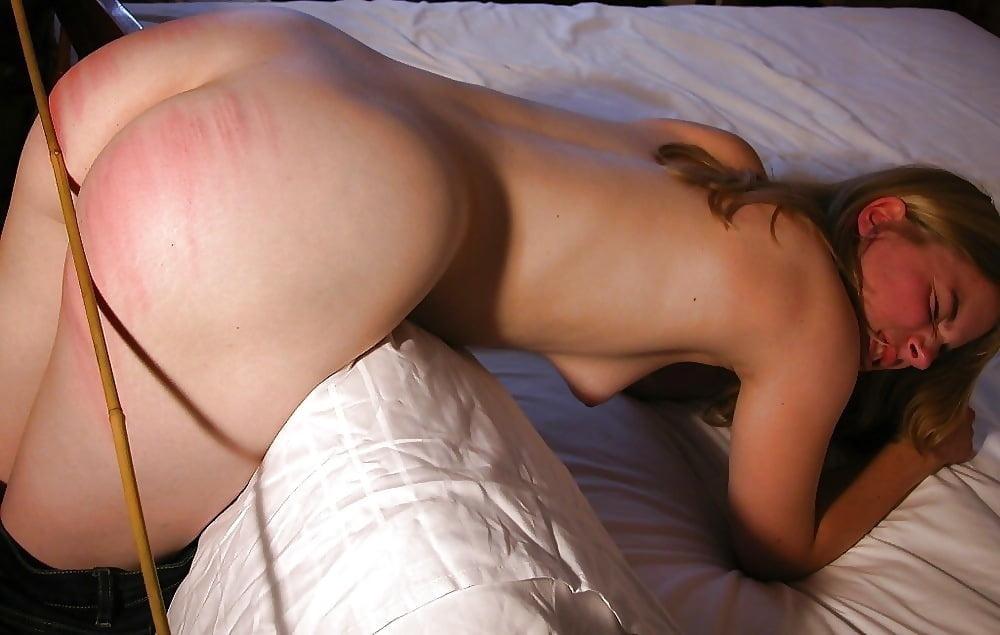 Cum on spanked ass